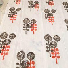 Block Print from Jen Hewett's Block Printing on Fabric class