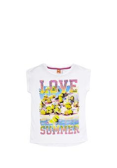 Clothing at Tesco | Universal Studios Minions Boxy T-Shirt > tops > Tops & T-shirts > Kids