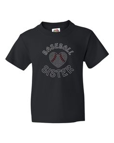 Baseball Sister Youth Tshirt