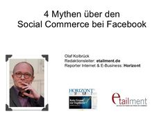 Facebook: Mythen des F-Commerce