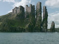 """The seat of House Greyjoy is an intimidating fortress located on one of the seven Iron Islands. The cliff it sits on has been eroded by the sea over the years, leaving Pyke's towers standing on stone stacks connected by rope bridges. All in all, the castle has a very tenacious, """"even the ocean can't knock me down"""" kind of vibe. It has become a surprisingly popular destination in Westeros for family reunions, as it has garnered a reputation for bringing kinfolk together in unexpected ways…"""