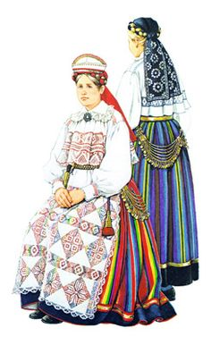 Pühalepa woman and girl - Pühalepa woman and girl (on the right) in mourning, late c. Drawing by M. Folk Costume, Costumes, Traditional Clothes, Ethnic Style, Knitted Gloves, Rag Dolls, Ethnic Fashion, Teapots, Folk Art