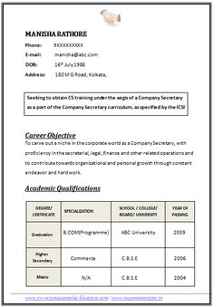 Beau Professional Curriculum Vitae / Resume Template For All Job Seekers Sample  Template Of An Excellent Company