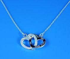 Tiffany heart interlock necklace