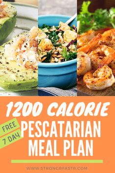 A simple, free 1200 Calorie Pescatarian Meal Plan optimized for rapid weight loss! If you're a pescatarian trying to lose weight this plan is the perfect starting point, complete with recipes, a shopping list, and pre-calculated macros