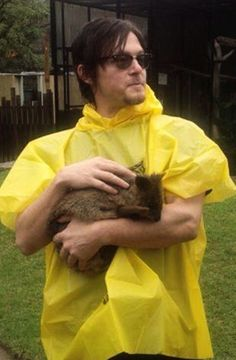 Norman Reedus, an animal lover!
