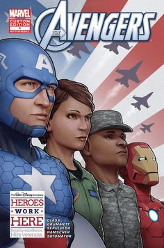 Avengers-themed comic book that was custom-made for #DisneyVeteransInstitute by @M C