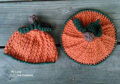 Newborn Pumpkin Beanie & Bum Cover Pattern