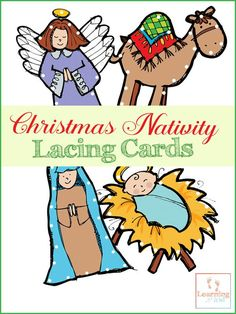 Lacing cards are a great way for preschoolers to practice their fine motor skills. Use these free Christmas Lacing Cards for fine motor skills to help Fun Writing Activities, Fine Motor Activities For Kids, Christmas Activities For Kids, Preschool Christmas, Free Christmas Printables, Kids Christmas, Preschool Activities, Christmas Nativity, Christmas Crafts