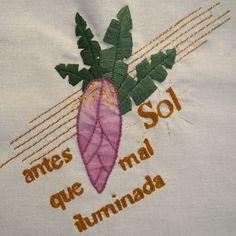 A Sol tem mãos de fada da jardinagem. Transformou um quintal árido numa terra de pomar, horta e jardins floridos. A Sol que nutriu aquela terra e suas plantinhas.
