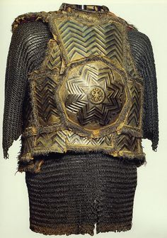 Russian zertsalo (mirror) armor, during the 16th century Cossaks adopted plate armor in the style of the Ottoman krug armor.