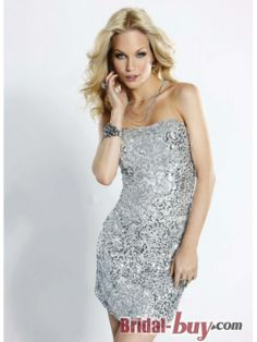 Sliver Short Sequined Homecoming Dress