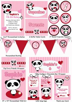 Panda Love Party Printable