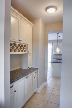 Halminen Model Home - want this walk-through pantry!