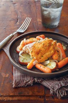 Light Slow-Cooker Recipes: Chicken with Potatoes and Carrots