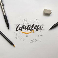World-Famous Logos Get Recreated In Beautiful Calligraphy Style - UltraLinx Gfx Design, Logo Desing, Lettering Design, Branding Design, Hand Lettering Art, Typography Inspiration, Logo Design Inspiration, Handwritten Logo, Calligraphy Logo