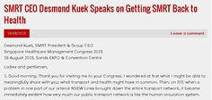 SMRT CEO Desmond Kuek Speaks on Getting SMRT Back to Health | The SMRT Blog