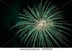 Fireworks on black sky