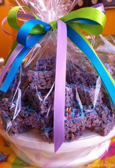 Purple Rice Krispie Treats - Perfect for Spring