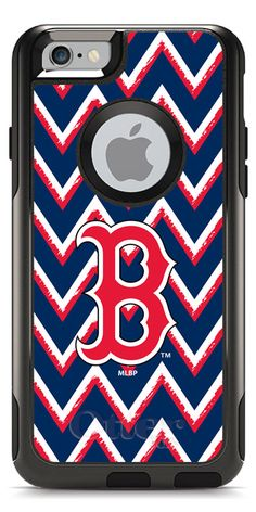 Boston Red Sox - Sketchy Chevron design on OtterBox® Commuter Series® Case  for iPhone 97e2b11d80