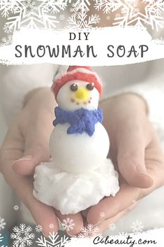 Let's prepare a cute Snowman made entirely of soap. How to make at home a Snowman made of soap is easy! It's perfect if you're looking for a handmade Christmas gift idea that's original and doesn't take much time and money. Christmas Soap, Homemade Christmas, Christmas Gift Guide, Christmas Decor, Christmas Ideas, Diy Holiday Gifts, Handmade Christmas Gifts, Holiday Crafts, Holiday Ideas