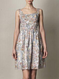 CARVEN - Paris-print cotton dress.