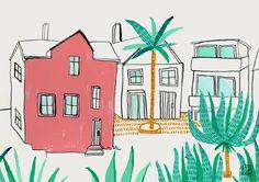 BEACH HOUSE - littleisdrawing.com, por Carla Fuentes
