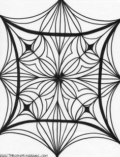 Kaleidoscope Coloring Pages for Adults | Abstract coloring pages for adults