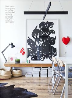 big black & white art, via covet garden mag
