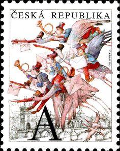 """Známky: Dušan Kállay: The Flying Post Office """"A"""" (Česká republika) Mi:CZ 839,AFA:CZ 849II,POF:CZ 841"""