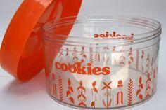 RETRO ADDIS ERIK KOLD DENMARK PLASTIC COOKIES KOEKIES CAKE STORAGE TIN BISCUIT