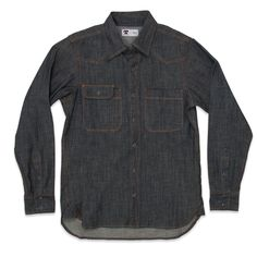 cb552a6310 Rope-dyed oz Cone Mills White Oak Denim Work shirt style Cut and sewn in  San Francisco