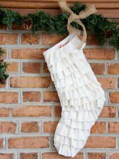 diy network shows you how to turn old costume jewelry into holiday decorations - Sweater Christmas Stockings