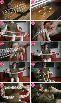 Un hermoso collar de perlas, hecho a mano .....esta divino parece de diseñador....Te encantara!!!!!