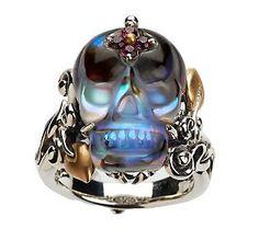 Barbara Bixby Crystal Quartz Skull Ring.. .