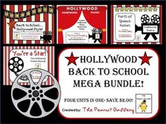 This 67 page mega bundle includes four of my Hollywood theme packs at a discounted rate for only $9.00!
