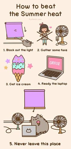 #Pusheen's guide to summer Sounds good to me :) add some chilled sweet tea vodka and I'm set!