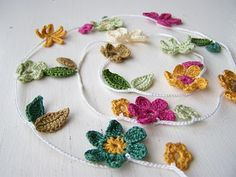 cute crochet bunting for spingtime