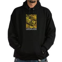 LEGALIZE Hoodie •Hooded Sweatshirt •Heavyweight 90/10 cotton/polyester blend by Hanes •Drawstring hood and kangaroo pocket • Stretch ribbed cuffs and waistband  •Standard adult fit •Machine Washable