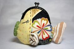 Kissing Fish Coin Purse  Cotton Fabric with Metal by CottonTimes, $39.90 <3 this