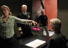 NCIS CBS - twitpic of Admiral McGee, behind the scenes.