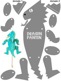 dt crafts / dtiys draw _ dt crafts _ dt _ dt logo _ dtiys art challenge _ dt projects for kids _ dtg printing _ dtiys drawing male Paper Puppets, Paper Toys, Paper Crafts, Sock Puppets, Dragon Birthday, Dragon Party, Diy For Kids, Crafts For Kids, Dragon Project