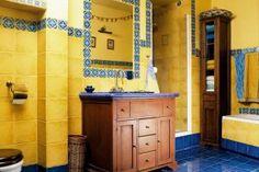 łazienka w kolorze żółtym :)