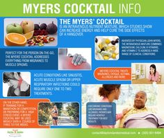 The Myer's Cocktail (IV Therapy) may benefit: Chronic Fatigue Syndrome, Fibromyalgia, Depression, Migraines, Respiratory Problems, Acute Viral Illnesses and Infections, Cardiovascular Diseases, Detox, Corpus Christi Health and Wellness 361-853-3559