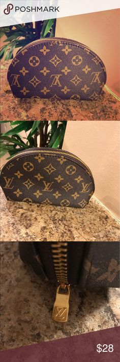 Monogram Cosmetic Case Pouch Trendy & Cute. Brand new & never used. Price reflects originality but still a good look. Comes from a smoke free home. Price is firm no brand Bags Cosmetic Bags & Cases