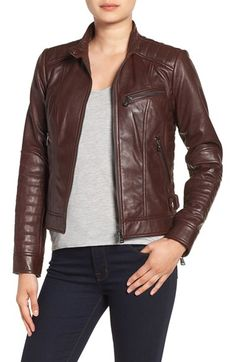 Bernardo Bernardo Quilted Leather Moto Jacket (Regular & Petite) available at #Nordstrom