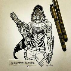 Osiris Female Hunter by KobOneArt on DeviantArt
