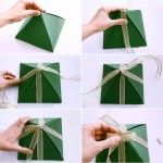 awesome DIY Christmas gift wrap ideas – Handmade bows, gift bags and toppers