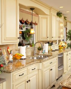 Custom Kitchen...love this, beautiful. sw