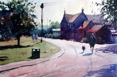 Watercolour of an old cottage in Yate UK